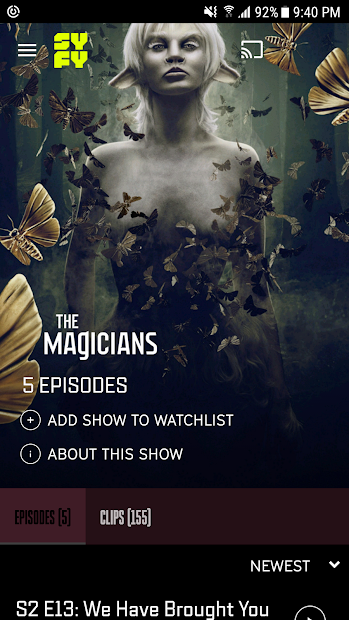 Your Favorite SYFY shows, anywhere and anytime! |