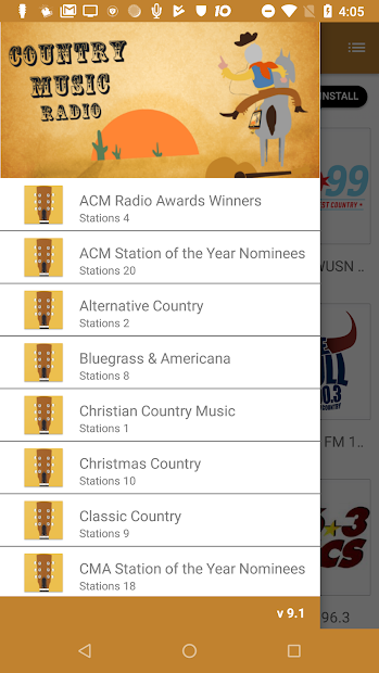 Listen to country music with this free radio app |